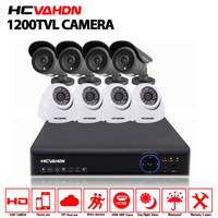 AHD 8CH CCTV System 1080P HDMI DVR 1200TVL indoor Outdoor Security Waterproof Night Vision 8 Cameras Surveillance cctv Kits