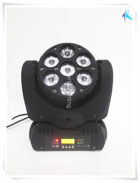 Best Sell Sky Beam Moving Head Light Stage Light 7x10w Osram LED RGBW 4IN1 Bright Moving Head Beam Lumiere Disco Show Lighting