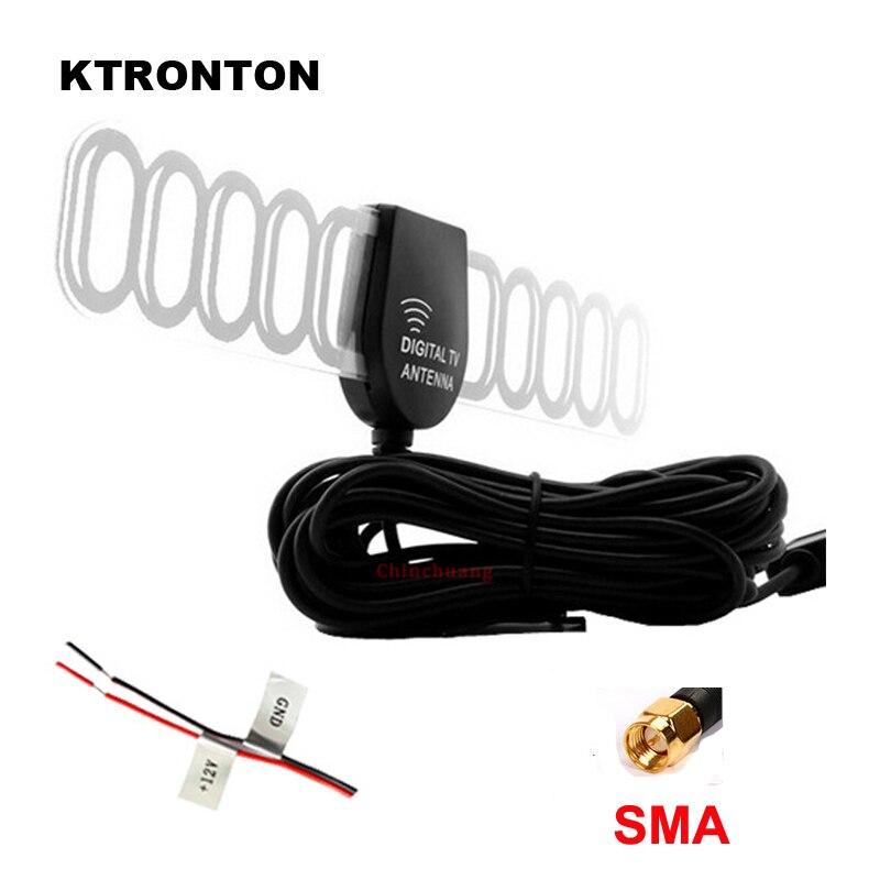 SMA Connecteur! 5 m Voiture DVB-T T2 ISDB-T Numérique TV Antenne Active Mobile Auto Aérienne avec Amplificateur Booster pour Voiture Numérique TV boîte