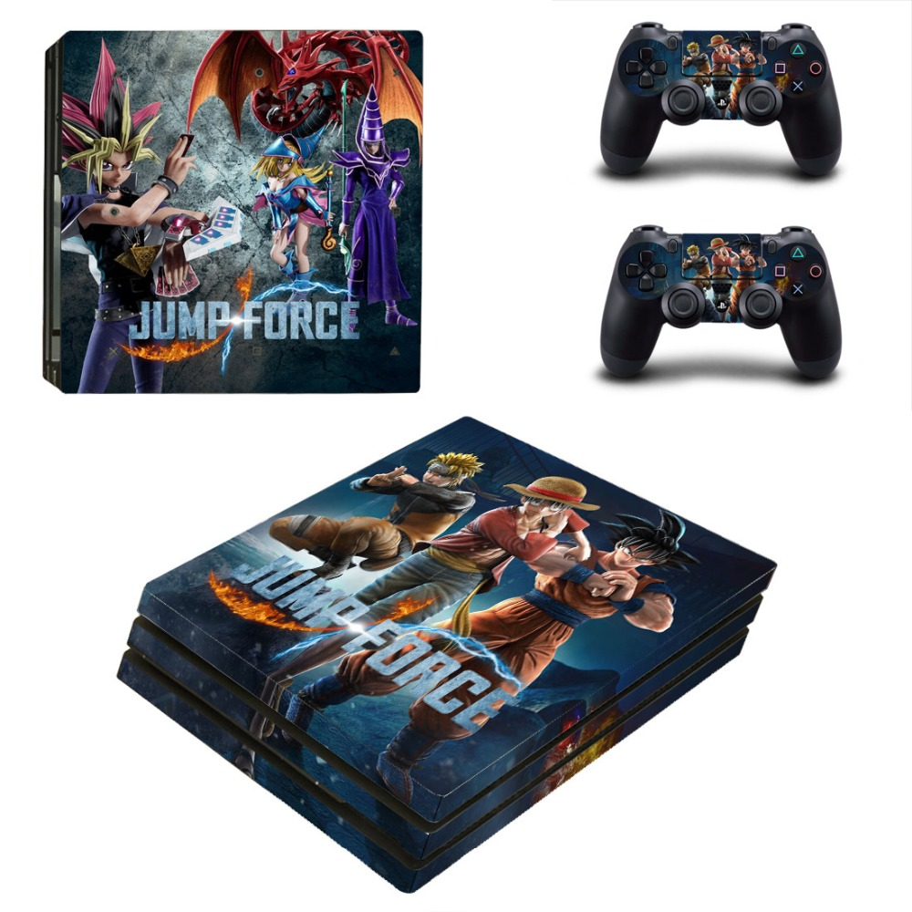 Game Jump Force One Piece PS4 Pro Skin Sticker For Sony PlayStation 4 Console and Controllers PS4 Pro Skin Sticker Decal Vinyl