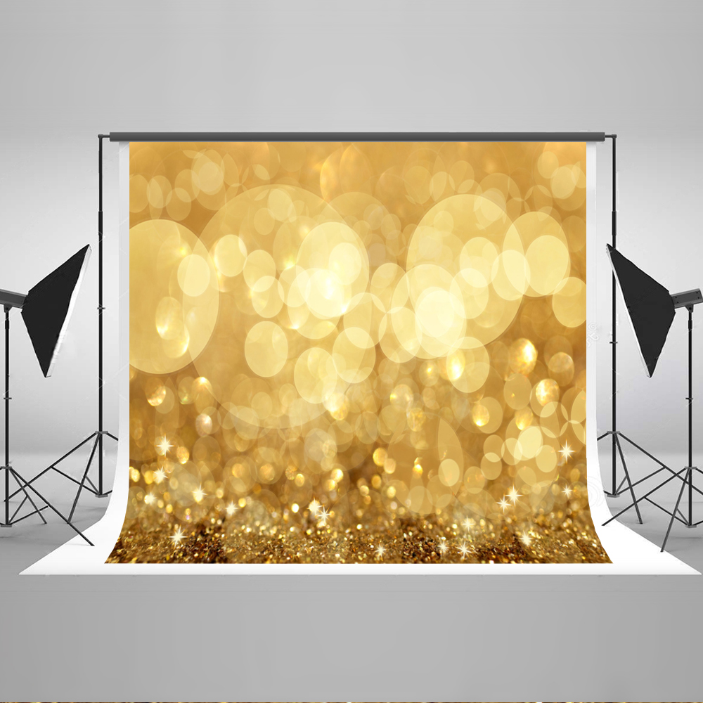 Bright Golden Sparkling Background Cotton Seamless X-mas Backdrop for Photography Studio props photo photographer Kate 7x5 lightdow cotton photography backdrop for photo studio