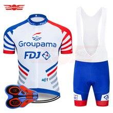 29992978a 2019 Pro Team FDJ Cycling Jersey 9D Bib Set MTB Uniform Bike Clothing Quick  Dry Bicycle