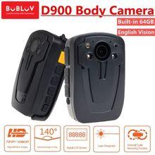 лучшая цена BOBLOV D900 64GB Body Worn Camera Hands Free Police wearable Security Camera HD1080P Video Recoder Mini Camcorder Night Vision
