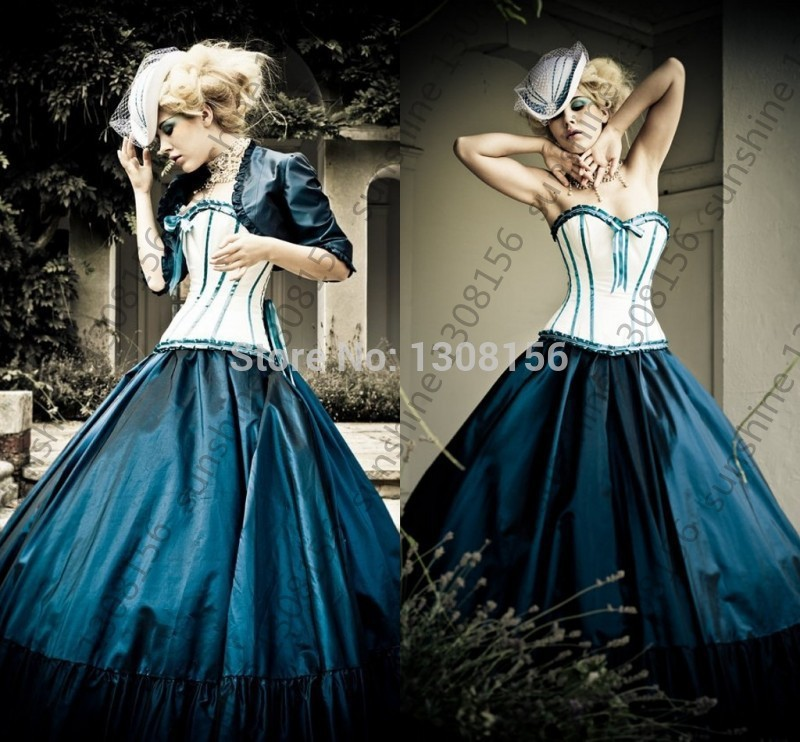 Online get cheap gothic wedding dresses for Vintage gothic wedding dresses