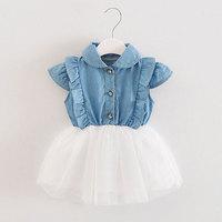 Summer Girls Tutu Princess Dress Newborn Baby Girl Clothing Mesh Dresses Infant Baby Clothes Birthday Christening