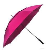 golf umbrella men strong windproof Semi automatic long umbrella large man and women's Business umbrellas mens Custom logo