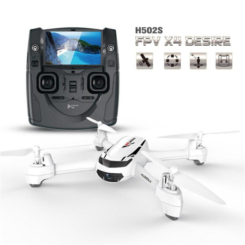 (В наличии) hubsan h502s x4 5.8 Г FPV-системы с 720 P HD Камера GPS высота один ключ возврата Безголовый режим rc горючего автоматическое позиционирование