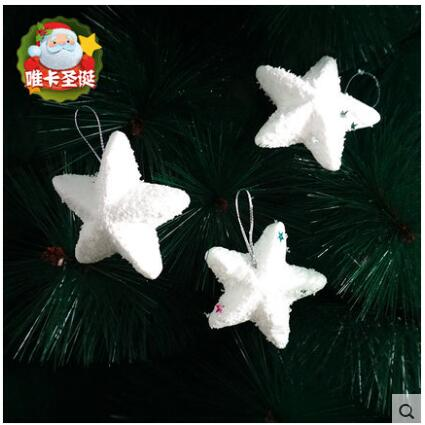 6pcs christmas decorations pendant bubble snow five pointed star christmas christmas tree five star ornaments 6 installed in pendant drop ornaments from