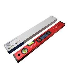 Cyfrowy kątomierz celownik kątowy inklinometr elektroniczny poziom 360 stopni z/bez magnesów poziom kąt nachylenia test linijka 400mm