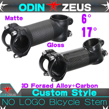 OdinZeus Forged Alloy Carbon Stem Ultra light Superstrong Mountain /Road bike  Bicycle 6 or 17 Degree 31.8mmX (70-110mm)