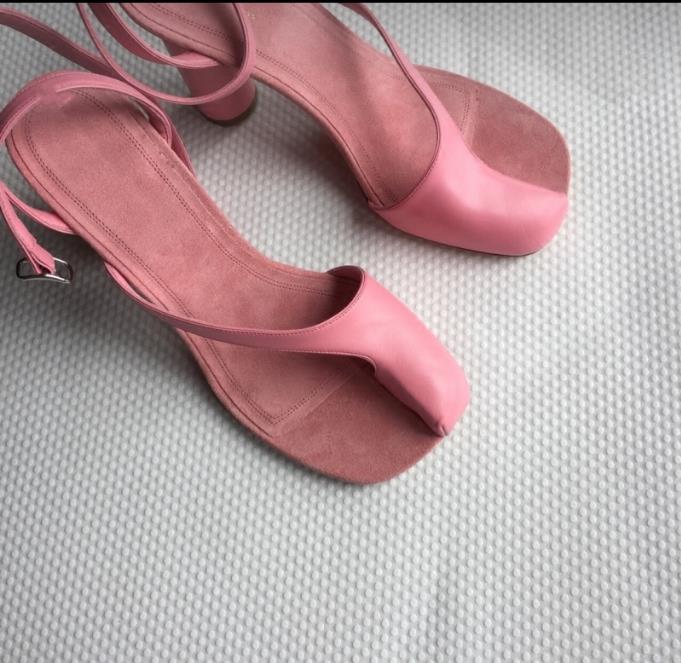 Haute Chaussures Mujer Femmes Zapatos Clip Sapato Talons Dames As Feminino D'été Chunky Doux Orteil Sandale as Rose Pic De Pic 2018 pqfBqxt