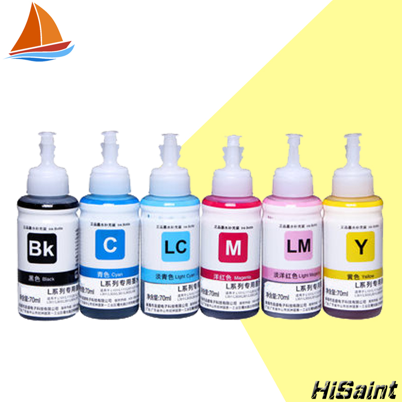 6 Color Ink Refill Kits 70ml Heat Transfer Screen Print For Epson L800 L801 Printing Cartridge No T6731 2 3 4 5 In From