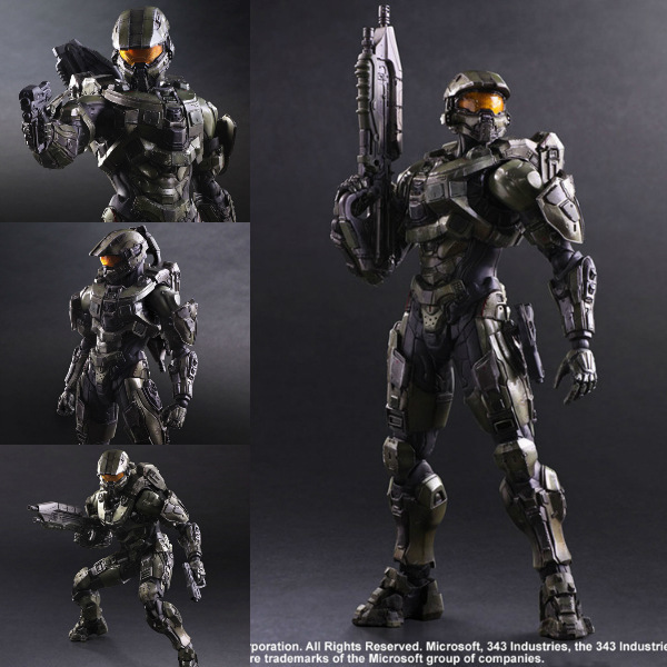 Play Arts KAI Halo 5 Guardians No. 1 Master Chief PVC Action Figure Collectible Model Toy 26cm 24 48w uv lamp nail polish dryer led white drying gel curing dryer us plug
