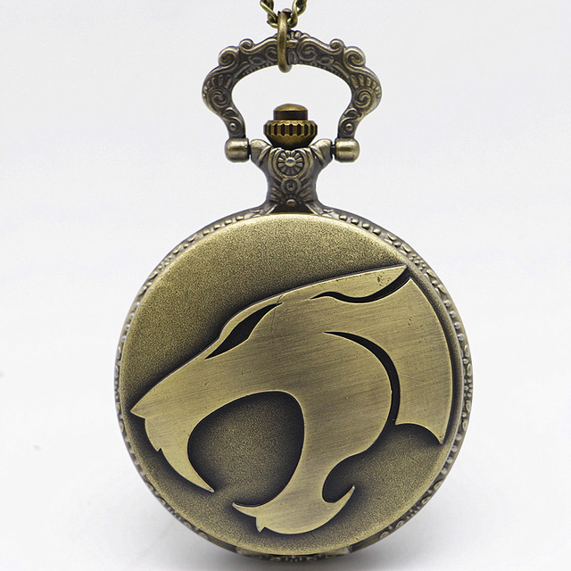 High Quality Full Metal Alchemist Silver Watch Wolf Pendant Men's Quartz Pocket Watches Japan Anime Necklace Children Boy Gift