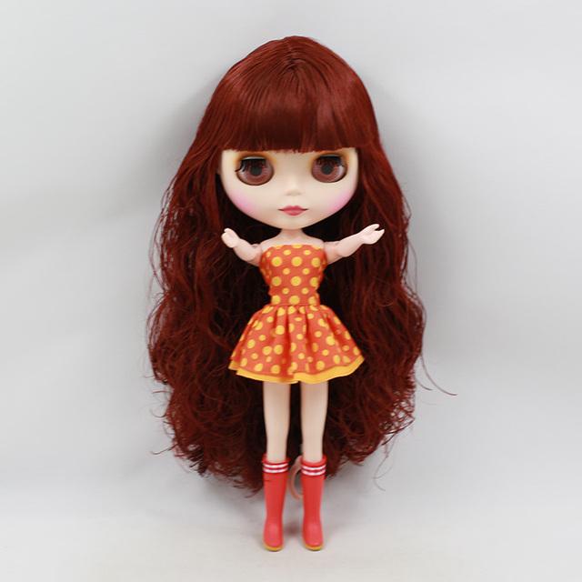 ICY Neo Blythe Doll Wine Red Hair Regular Body