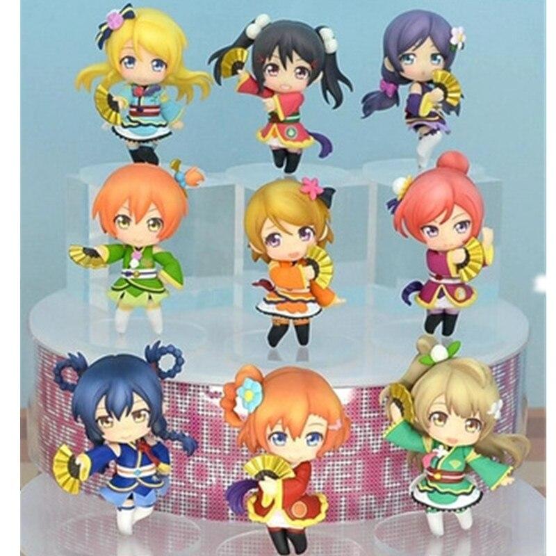Anime figures Love live! PVC Action figure 9 pcs/set Minami Kotori Nico Yazawa 6 cm Collection RETAIL BOX JK-0008