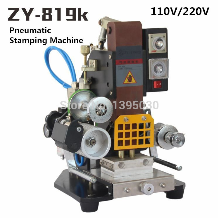 ZY 819K Pneumatic Stamping Machine leather LOGO printer,press words,Creasing machine,name card Embossing Code printer