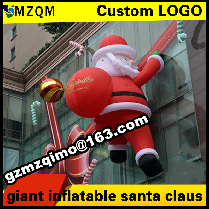 Giant christmas inflatable santa   Climb the wall / backpack  inflatable christmas father large santa claus free shipping inflatable cartoon customized advertising giant christmas inflatable santa claus for christmas outdoor decoration