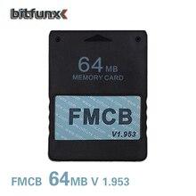 Bitfunx送料mcboot 64メガバイトのメモリーカードPS2 fmcbメモリカードv1.953