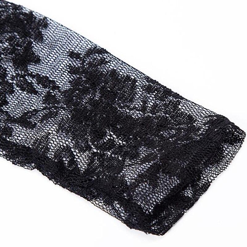 2018 European Palace Lace Dresses For Women Black Mesh Sheer Woman Party Dress Plus Size Voile Mesh Maxi Dress Streetwear S3081