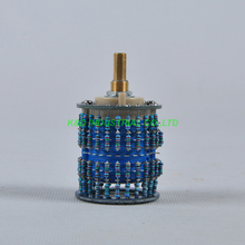 1pc 4pole 24 Step Attenuator Volume Control Pot Log 500K Stereo Potentiometer