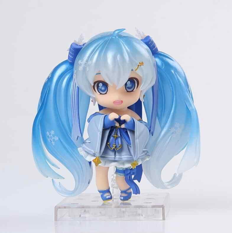 Nova hot anime toy figuras figma Hatsune Miku nendoroid Coleção 10 cm presente para crianças de ação & toy figuras de ação figura brinquedos