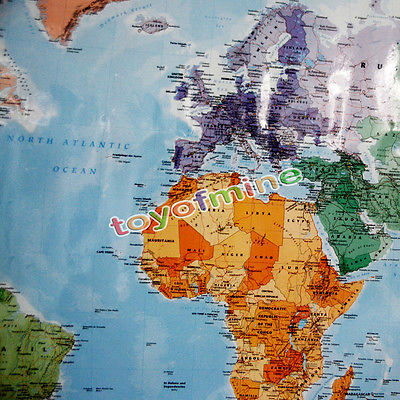 Hot english french world map waterproof big large map of the world hot english french world map waterproof big large map of the world poster with country flags 9868cm13798cm free shipping in wall stickers from home gumiabroncs Images