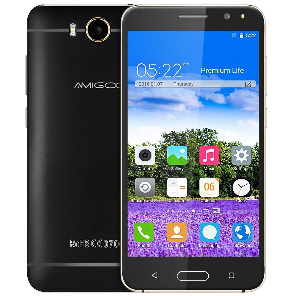 Original AMIGOO X18 3G 5 5 Inch Smart Phone Android 5 1 MTK6580 Quad Core Mobile