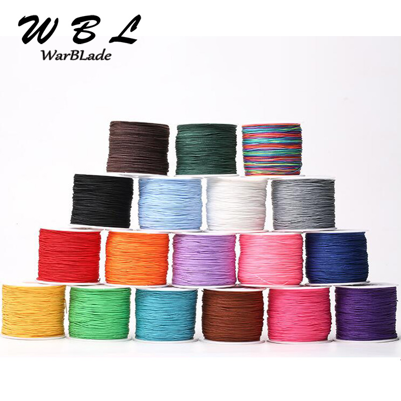 100M Cotton Cord 0.8mm 1mm 1.5mm Nylon Cord Thread Chinese Knot Macrame Cord String DIY Beading Braided Bracelet Jewelry Making