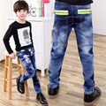 Spring Children Fashion Letter Jeans Boys Jeans Pants Casual Light Wash Boys Jeans for Boys Elastic Waist Children's Jeans P248