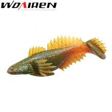 1Pcs T Tail Soft lure 110mm 19.5g paddle Tail soft Grubs Maggot Plastic Fishing Lure Soft Baits Jig Head Texas Rig bass fishing