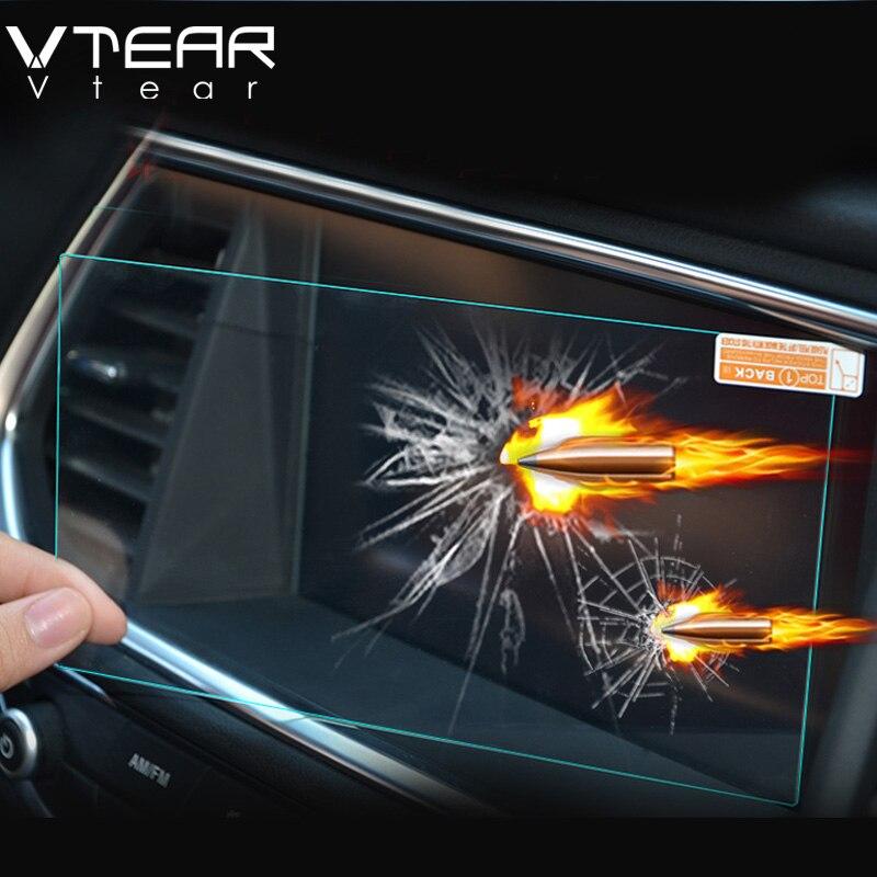 Vtear For Hyundai creta ix25 GPS Navigation Screen Steel material Protective Film LCD Screen Film Sticker accessories 2015-2017 упоры капота автоупор для hyundai creta 2016 2 шт
