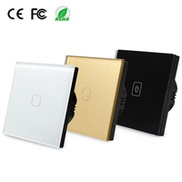 The Latest Fashionable Shape EU Norm 1 Gang 2 Way Touch Switch 220V Wall Light Switch