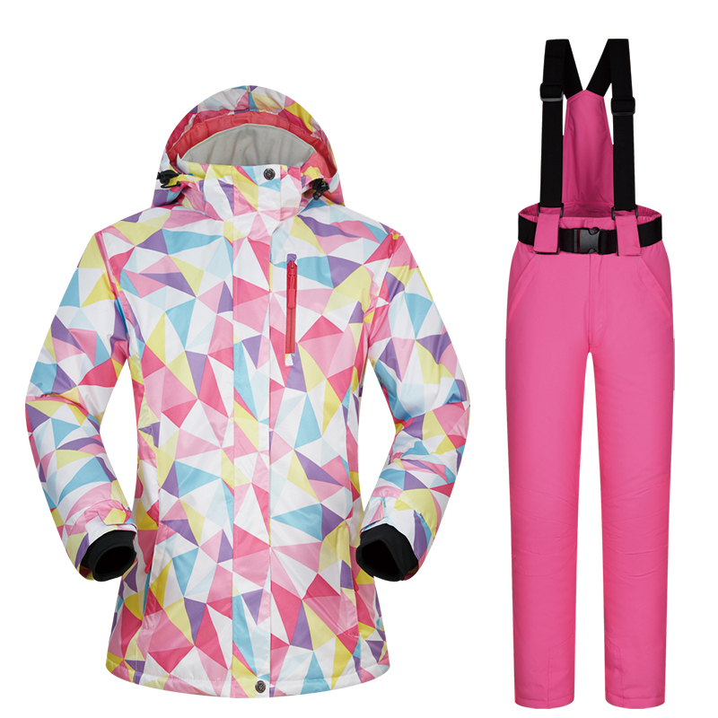 Ski Suits Women Winter Brands Sets Windproof Waterproof Breathable Outdoor Female Ski Jacket and Pants And