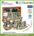 Умный и счастливую землю 3d модель головоломка Пиратский Корабль И Замок В среднего Возраста взрослых головоломка diy бумажные варшавского модели для мальчика бумаги