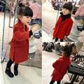 Roupas de criança 2017 outono bebê criança do sexo Feminino trincheira outerwear meninas Casacos de moda