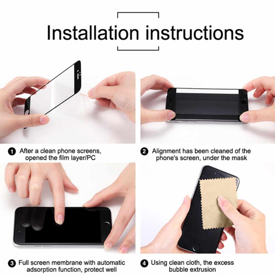 3D закругленные края закаленное стекло для iphone 7 8 6 6s plus 9 H полное покрытие протектор экрана для iphone 6s 6 7 8 X XS пленка из углеродного волокна