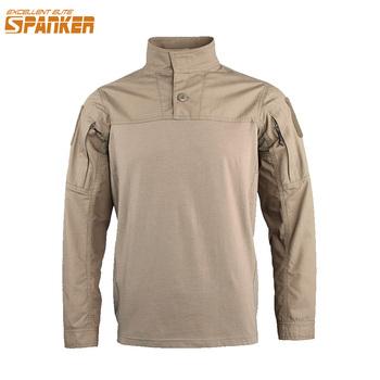 Doskonały ELITE SPANKER Outdoor męska koszulka z długim rękawem wojskowa bawełniana koszulka polowanie Camo taktyka szturmowa z długim rękawem tanie i dobre opinie EXCELLENT ELITE SPANKER CR115 Pasuje prawda na wymiar weź swój normalny rozmiar Cotton Polyester Tees O-sleeve Full