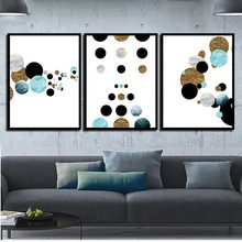 Nordic Minimalist Geometric Canvas Art Print Poster Bedroom Colorful Abstract Circle Wall Pictures Round Dot Painting Home Decor(China)