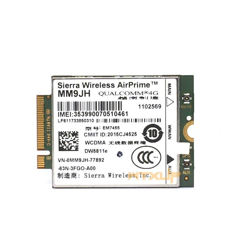 Sierra Wireless EM7455 DW5811e MM9JH CAT6 for Dell E7270 E7470 E7370 E5570 E5470