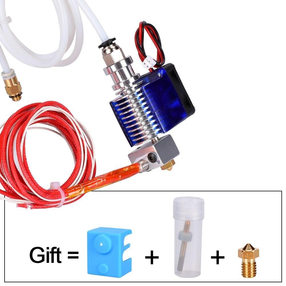 Pièces d'imprimante 3D E3D V6 j-head Hotend Kit d'extrudeuse 1.75/3.0 MM Filament Bowden extrudeuse avec ventilateur de refroidissement chauffage tout métal téflon