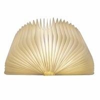 Innovative USB Rechargeable LED Foldable Wooden Book Shape Desk Lamp Nightlight Ornaments Festival Gift Decor Warm