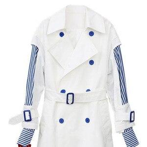 Image 5 - LANMREM 2020 ใหม่แฟชั่น womne เสื้อผ้าเกาหลีผู้หญิง Windbreaker เกาหลีกระดาษสองแขนข้อต่อ Stripe Chic หลวม WC00200L