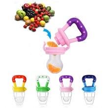 1 pcs Chupeta Do Bebê Fontes Do Bebê Mamilo Chupeta Teta Garrafas de Leite de Alimentos Frescos Alimentador Nibbler Crianças Alimentação Mamilo Alimentador Seguro