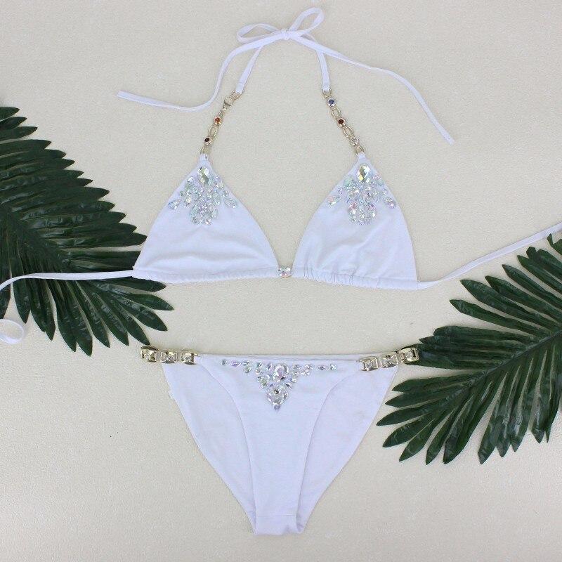 pfflook Diamond Swimsuit Crystal Bikini Set Brazilian Padded Swimsuits Push Up Swimwear Sexy Women Biquini 2017 Bathing Suit 3