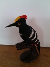 simulaiton woodpecker toy polyethylene&furs woodpecker model gift about 10cmx8cmx20cm