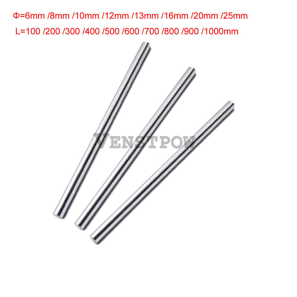 4pcs linear shaft 6mm 8mm 10mm 12 16 8x400mm linear shaft 3d printer 8mm x 400mm Cylinder Liner Rail Linear Shaft axis cnc parts 1pc 8mm 8x100 linear shaft 3d printer 8mm x 100mm cylinder liner rail linear shaft axis cnc parts