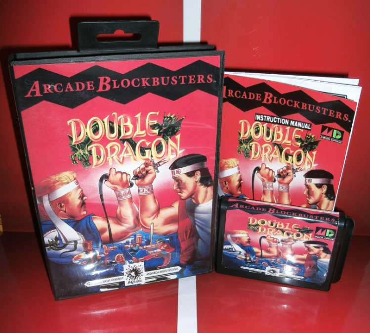 Double Dragon 1 - MD Game Cartridge with box and manual for 16 bit Megadrive Genesis console