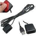 Nuevo Receptor GPS USB de 3 Metro Para Portátil NetBook de la PC Del Coche de Navegación GPS Ratón Antena Canales