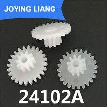 Wheels Plastic Pinion Motor-Shaft Teeth-Pom 24102A 2MM Toy Parts 13mm-Diameter 10pcs/Lot